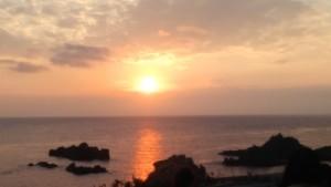 佐渡の夕陽
